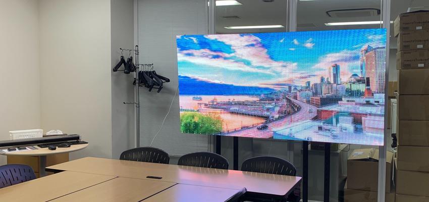 LEDビジョンはプロモーションだけじゃない!オフィスでの活用事例